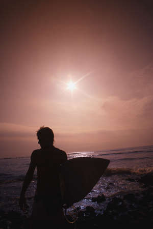 Silhouette of surfer Stock Photo - 7551523