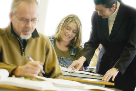 Adult students with teacher Stock Photo - 7551524