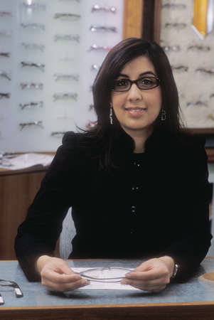 At the optician's Stock Photo - 7551757