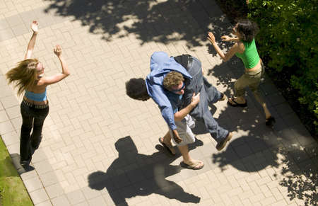 A group of friends dancing about Stock Photo - 7551730