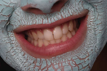 Closeup of woman's mouth Stock Photo - 7551707