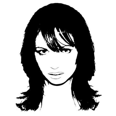 artwork: A womans face