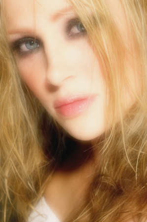 sex appeal: Closeup of a womans face