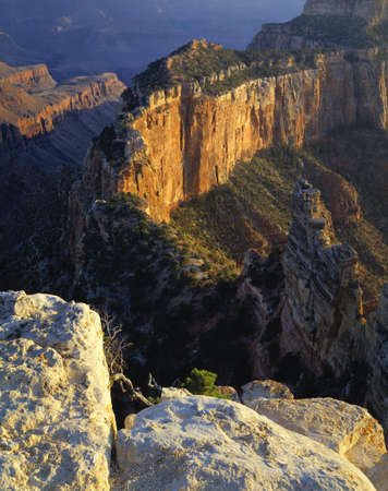 Wotan's Throne, view from North Rim, Grand Canyon National Park 写真素材
