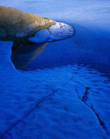 Shoreline with Ice, sandstone pattern Banco de Imagens