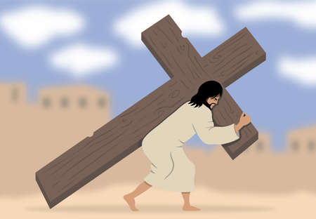 burden: Illustration of Via Dolorosa