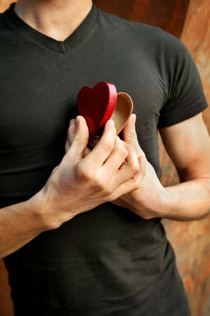 Man opening his heart Stock Photo - 7551590