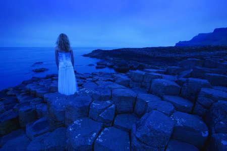 Woman Looking at Sea Stock Photo - 7551735