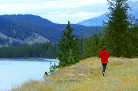 Running the Rocky Mountains Stock Photo - 7551723