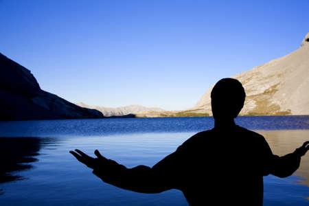 worshipping: Person worshipping
