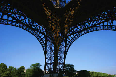 Underside leg of Eiffel Tower