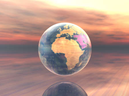 3D Globe Zdjęcie Seryjne