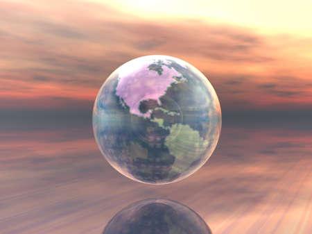 3D Globe Stock Photo - 7551443