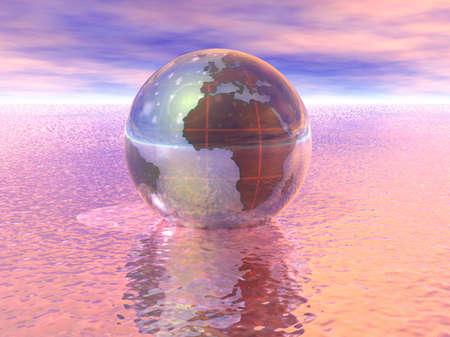 3D Globe Stock Photo - 7551548