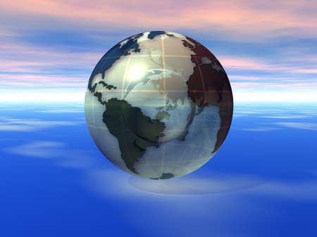 3D Globe Stock Photo - 7551419
