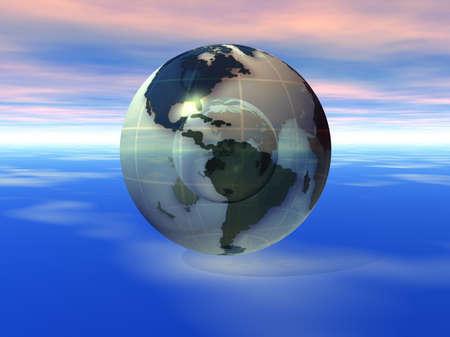 3D Globe Banco de Imagens