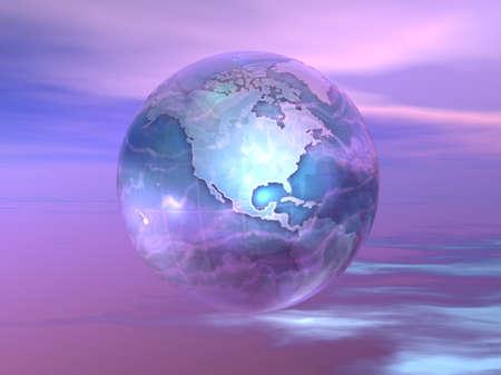 Globe 3D  Banque d'images - 7551412