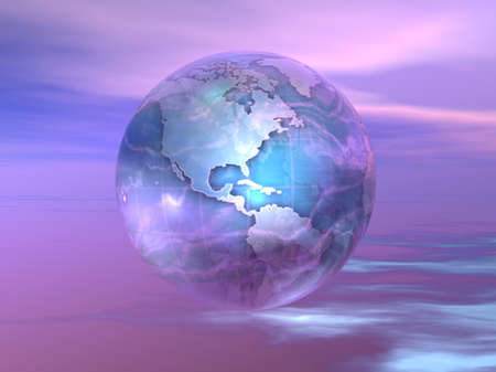 3D Globe Banque d'images