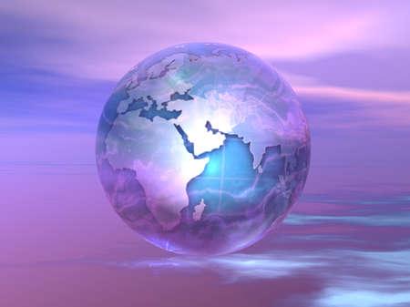 3D Globe Standard-Bild