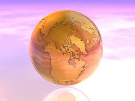 3D Globe 版權商用圖片