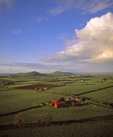 Aerial view of buildings on a landscape, County Laois, Ireland