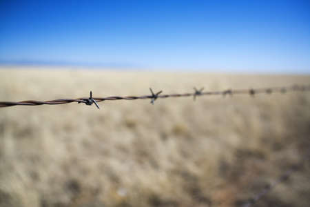 Barbed wire fence Stock Photo - 7559278