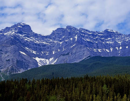 snow capped mountain: Rocky mountains