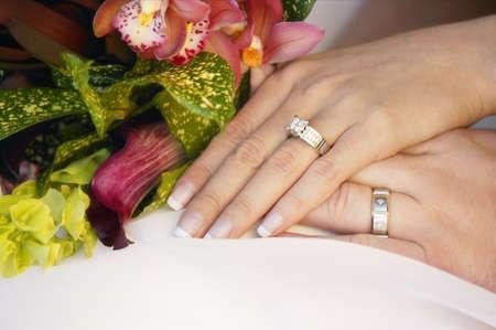 matrimony: Wedding couples hands