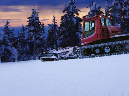 Tractor in a snowy field Stock Photo - 7559318