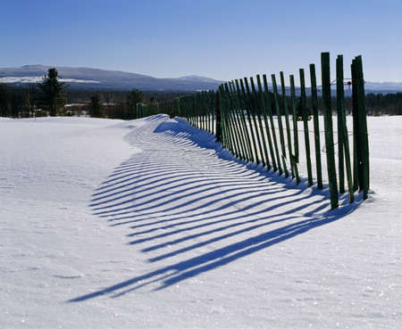 Snow fence Stock Photo - 7559402