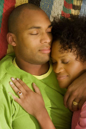 Husband and wife napping together Stock Photo - 7559401