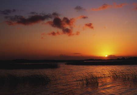 Sunrise at Lough Derg, Co Clare, near Mountshannon, Ireland Stock Photo
