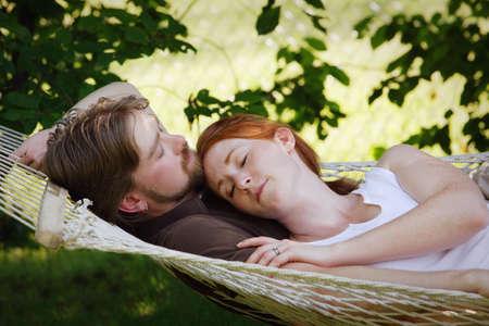 snuggling: Couple sleeping