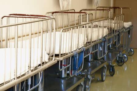 Pediatric hospital stretchers in hallway Stock Photo - 7559448