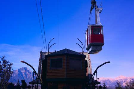 Mountain tramway lift, Jasper National Park, Alberta, Canada Stock Photo - 7559291