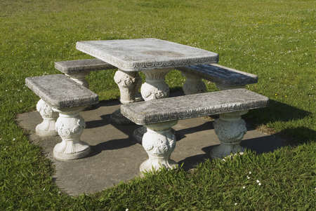 Decorative outdoor table and chairs   Stock Photo - 7559541