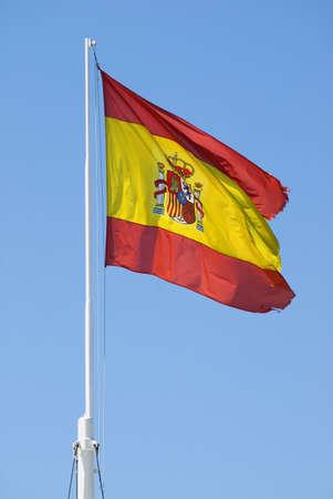 Mast bearing the Spanish national flag