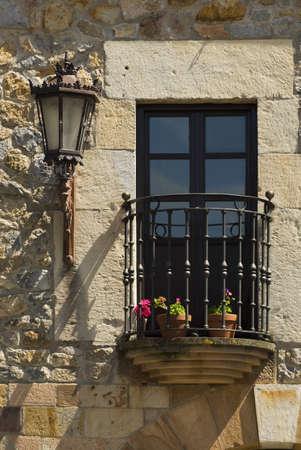 street lamp: Balcony in Escalante, Cantabria, Northern Spain