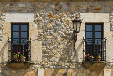 Balconies in Escalante, Cantabria, Northern Spain Stock Photo - 7559469
