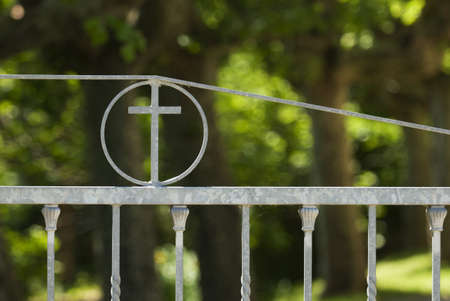 Iron church gates   Stock Photo - 7559423