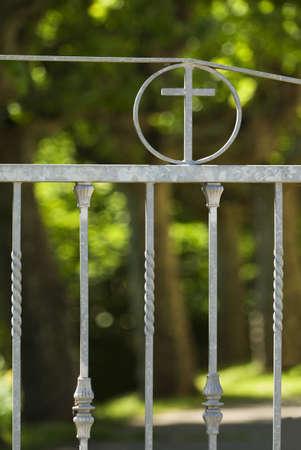 Iron church gates Stock Photo - 7559250
