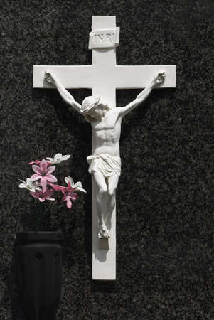 easter cross: Carving of Christ on the cross LANG_EVOIMAGES