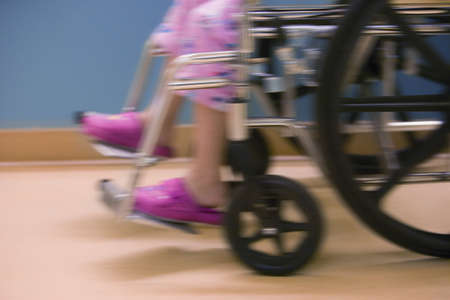 hospital: Child in hospital wheelchair
