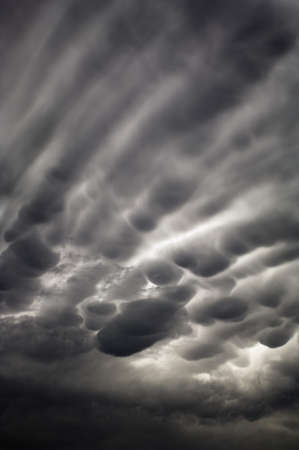cloud formation: Bubbly storm clouds
