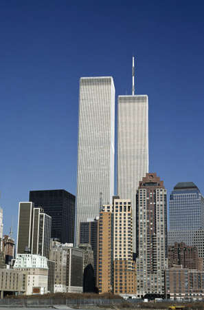 highrises: World Trade Center in downtown, New York