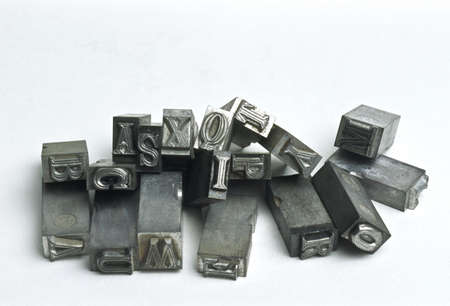 old letters: Metal letters LANG_EVOIMAGES