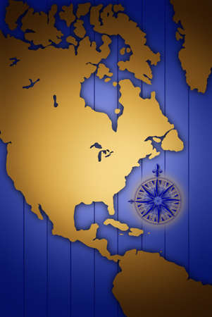 don hammond: Unmarked map of north america centered on the great lakes