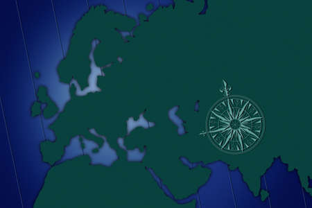 don hammond: Shadow map of europe with blue background