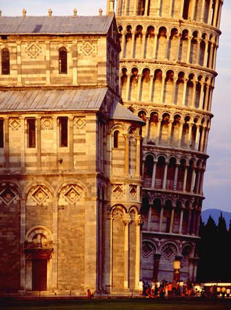 workmanship: Leaning tower of pisa Stock Photo