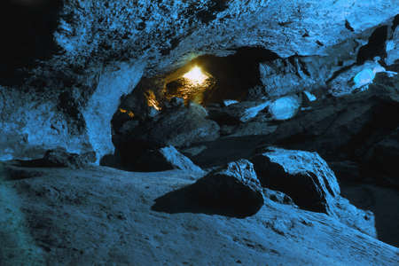 Inside cave near entrance